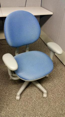 Steelcase Criterion-Blue w/Gray Frame