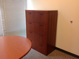 USED WOOD 4 DRAWER LATERAL FILE