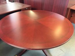 ROUND CONFERENCE TABLE by BERNHARDT in MAHOGA