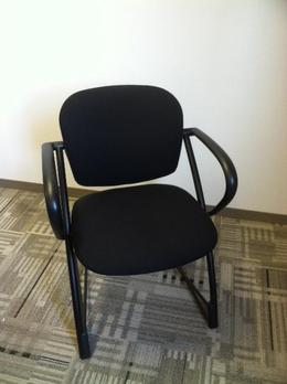 Steelcase Sled Side Chair-Black