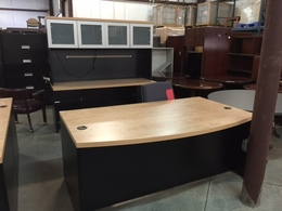 Modern Desk and Credenza