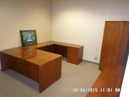 Used Private Office Desk Set