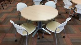 "36"" and 42"" Round tables"