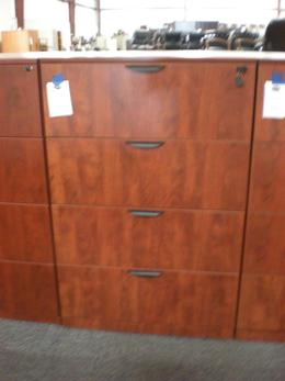 Office Source 4 Drawer Cherry Lateral