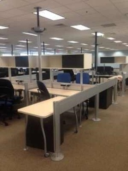 Steelcase Open Concept Workstations