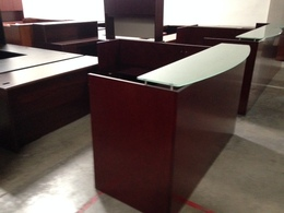 Cherryman Reception Desk with Glass Top