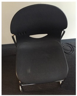 Black Sled Base Chairs