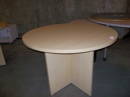 "42"" Round Maple Laminate Conference Table"