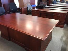 Desk and Credenza set - traditional Cherry