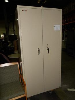 USED FIREPROOF STORAGE CABINETS