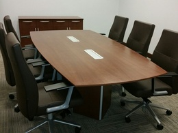 Custom Wood Conference Table & Credenza