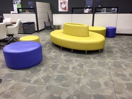 Reception Sofa and Ottomans