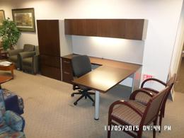 P-Top Desk with matching Wardrobe Cabinet