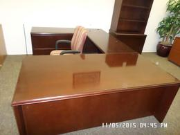 Used Mahogany  U Desks