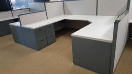 Steelcase 7x7 cubicles with 5x7 reception