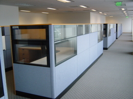 Kimball Cetra Glass panels in black trim