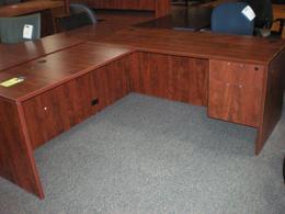 30 x 66 Desk 24 x 48 Left Return Cherry OTG