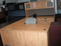 Honey Laminate U Desk Closeout