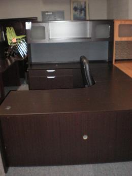 Espresso Laminate U Desk Closeout