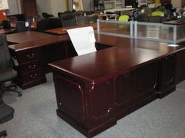 Traditional Desk Bridge Credenza Closeout Mah