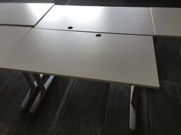 Like New White Benching Tables 47