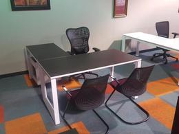 fine line l shape desk suite