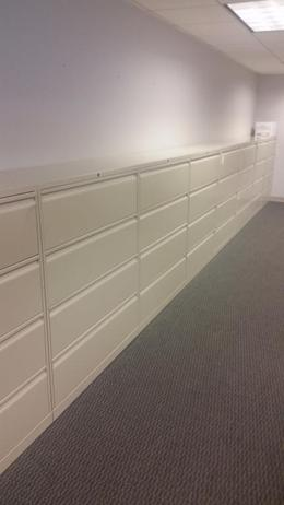 Knoll 4dr. lateral files-Off White