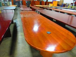 16 foot Cherry conference table