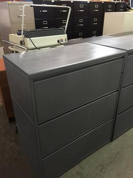 3 DRAWER LATERAL SIZE FILE by HERMAN MILLER