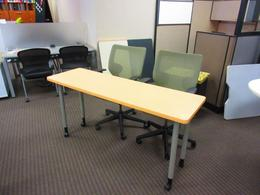 24x60 tables and 2 Keilhauer chair set