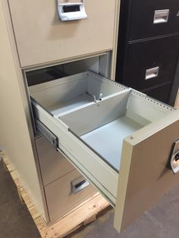 4 DRAWER LEGAL SIZE FIRE-PROOF FILE CABINET