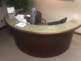 10' Oval Reception Desk