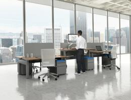 New Adjustable Height Benching Desk System