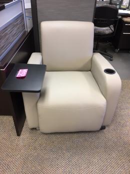 Modern Tablet Arm Club Chair