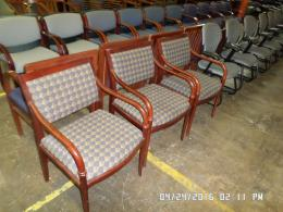 Wood Framed Used Side Chairs