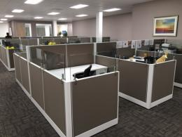 New Friant Office Cubicles with Glass