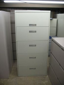Steelcase 800 5 Drawer Lateral Files