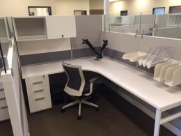 New Friant Office Cubicles with Glass!