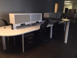 Benching with Sit Stand Desks