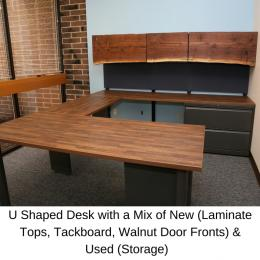 U Shaped Desk Industrial Office Furniture. Omaha ...