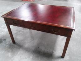 Walt Morris Leather Top Table Desk
