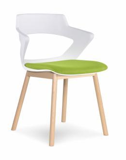 Via Zee Wood Base Chair