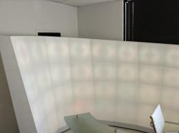 Curved Lighted Screen Divider