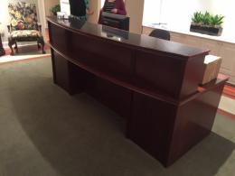 Mahogany Reception Desk