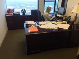 Mahogany Executive L Desk