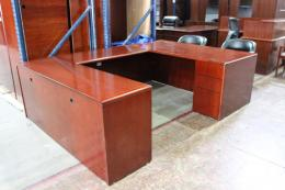 Cherry Veneer U-Shape Desk Sets