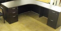 Modern L-Shaped Credenza Corner Desk