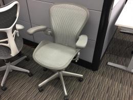 Herman Miller Aeron Chair | Size B | Titanium