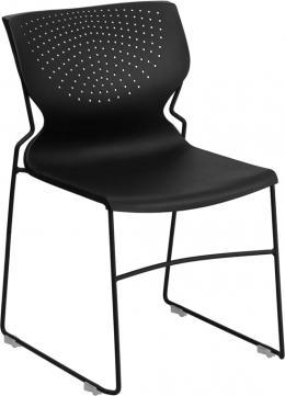 Flash Furniture Hercules Black Stack Chair