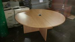 6ft Round Maple Table